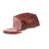 SZYNKA WOŁOWA WĘDZONA wysokogatunkowetradycyjne receptury wędlina wołowa, wędzona Składniki: mięso wołowe (100 g wyrobu wyprodukowano ze 125 g mięsa), sól, cukier, sól peklująca, przyprawy naturalne
